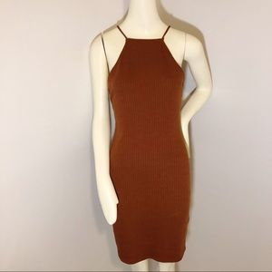 Charlotte Russe brown skin tight dress
